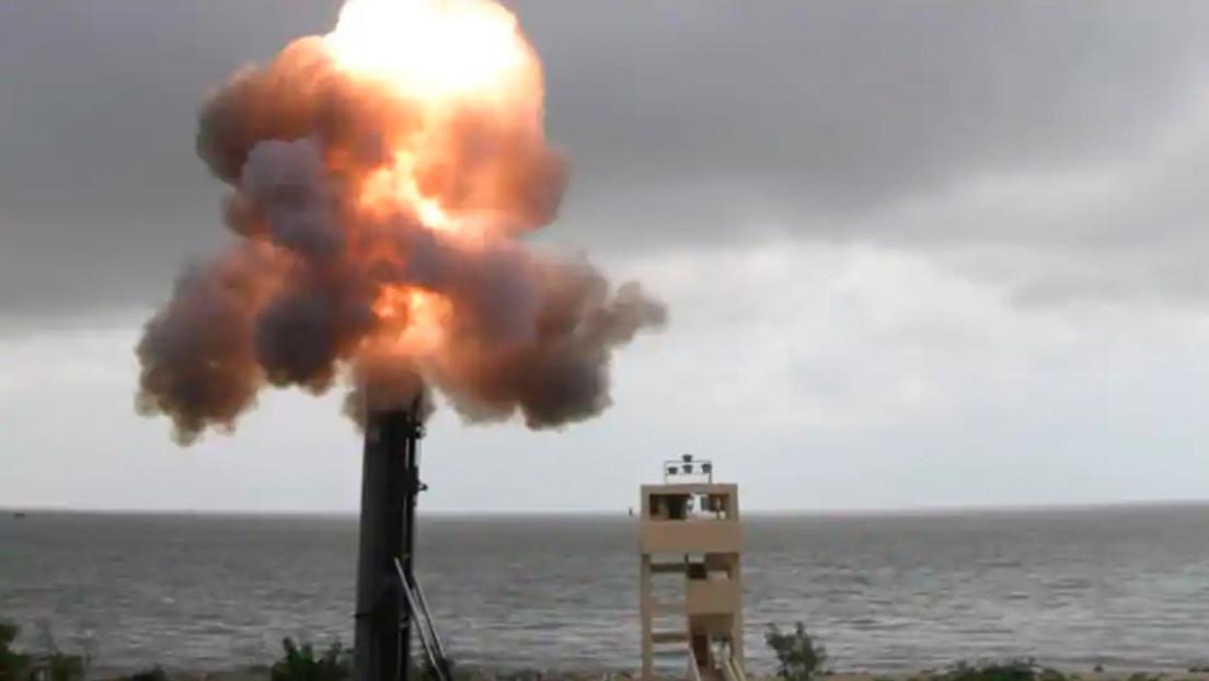 VIDEO: India lanza a cientos de kilómetros un misil supersónico dotado de un torpedo antisubmarino