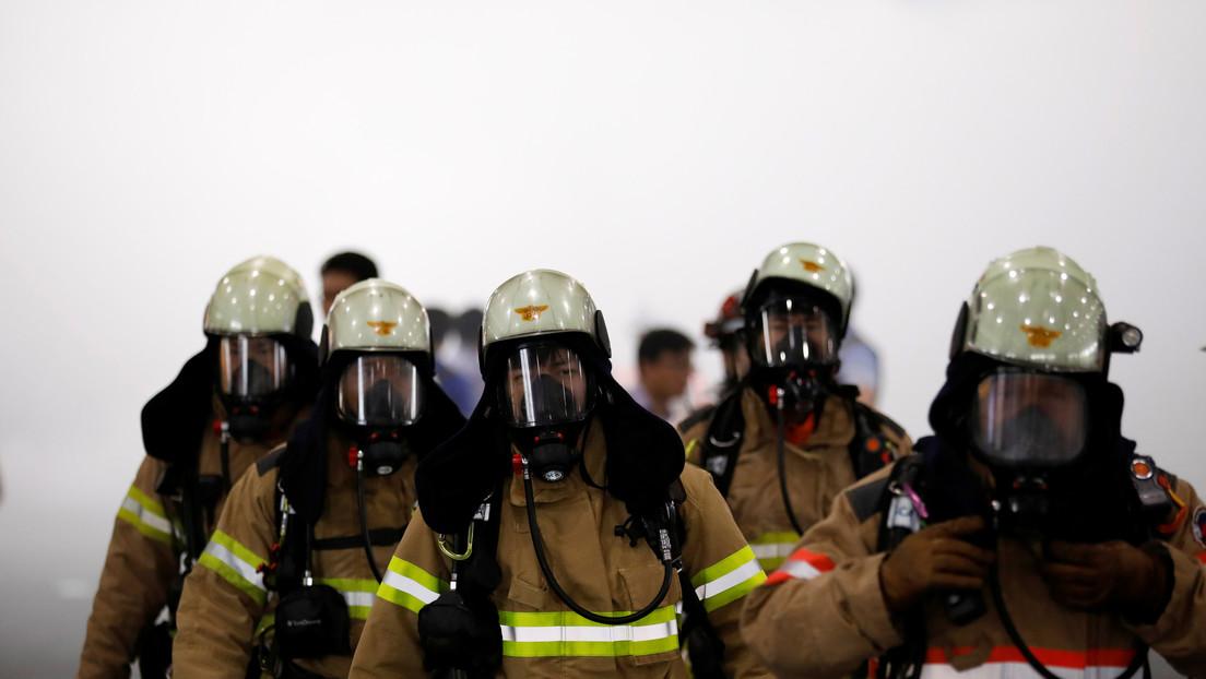 Incendio en edificio de Corea deja al menos 88 personas intoxicadas