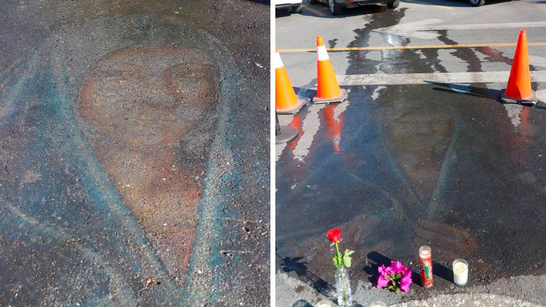 La inexplicable reaparición de una virgen pintada con tiza hace 13 años en México