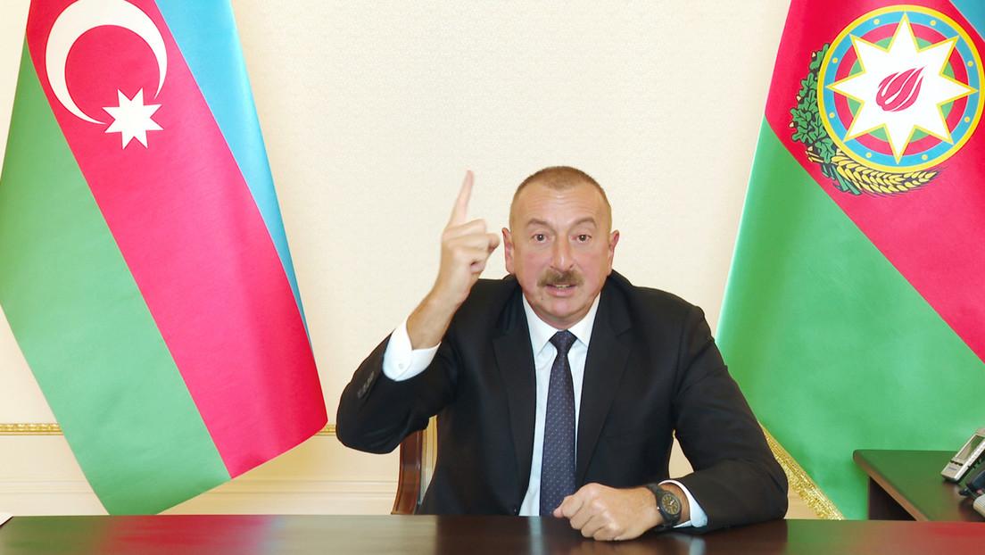"""Presidente de Azerbaiyán declara que le da a Armenia """"la última oportunidad"""" para regresar a las negociaciones y retirar sus tropas de Nagorno Karabaj"""