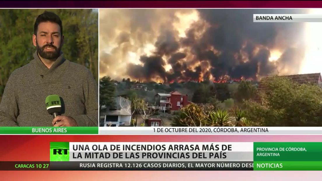 Argentina: Una ola de incendios arrasa más de la mitad de las provincias