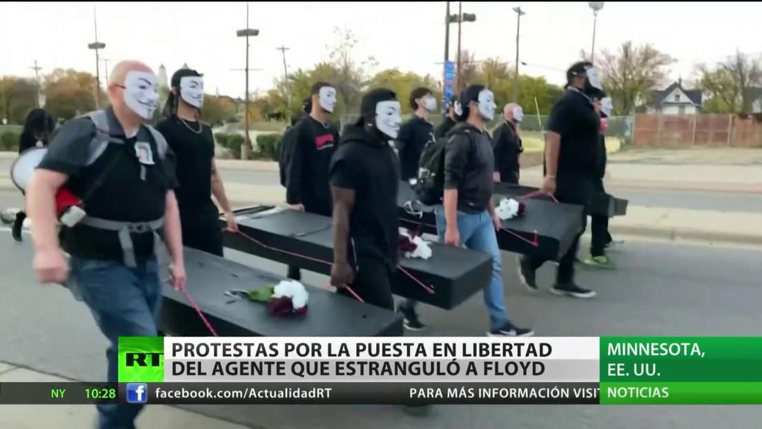 EE.UU.: Protestas por la libertad bajo fianza del policía que estranguló a George Floyd