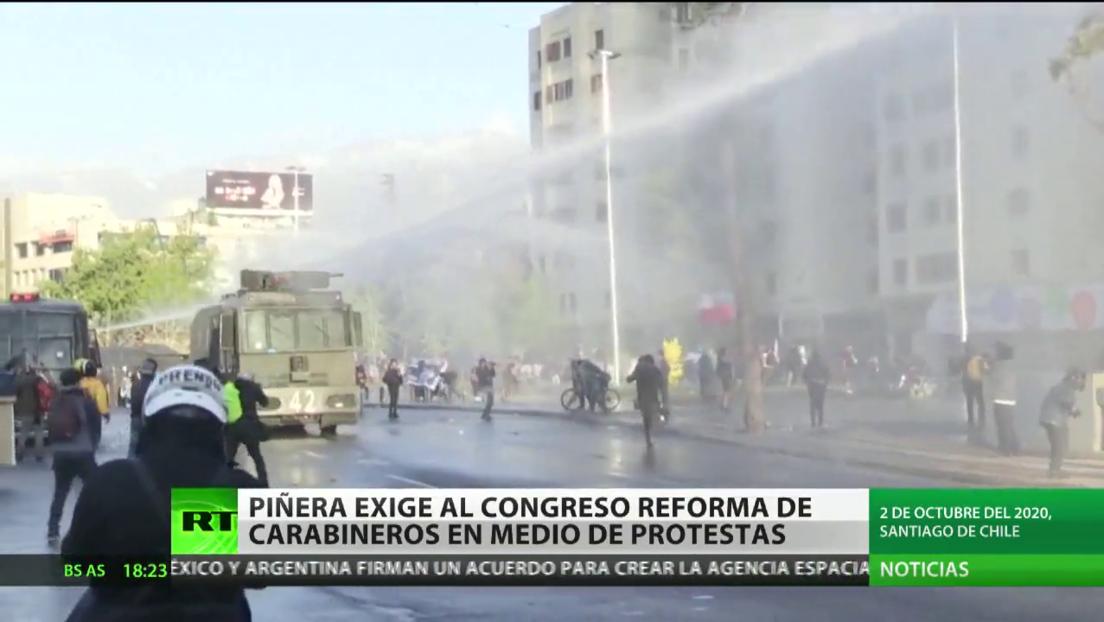 Piñera exige al Congreso de Chile acelerar la aprobación de una reforma del cuerpo de Carabineros en medio de las protestas