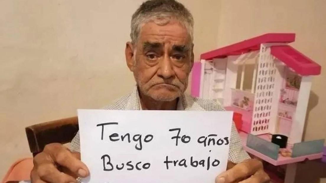 """""""Tengo 70 años, busco trabajo"""": Un mexicano pide ayuda para poder cobrar la pensión y mantener """"su sustento diario"""""""