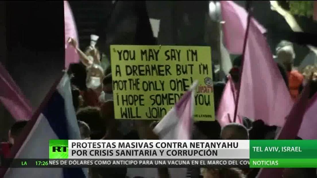 Protestas en Israel contra Netanyahu por la crisis sanitaria y caso de corrupción