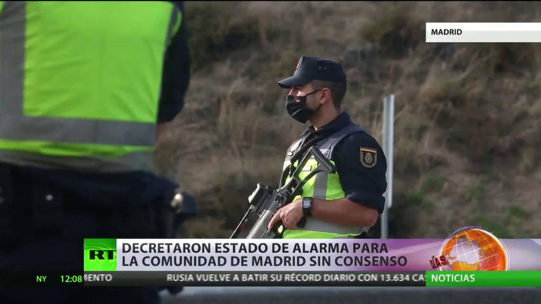 Decretan el estado de alarma para la Comunidad de Madrid, sin consenso con las autoridades locales