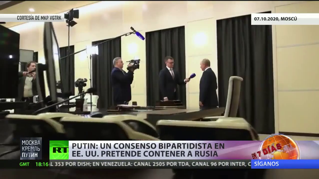 "Putin: ""Un consenso bipartidista en EE.UU. pretende contener a Rusia"""