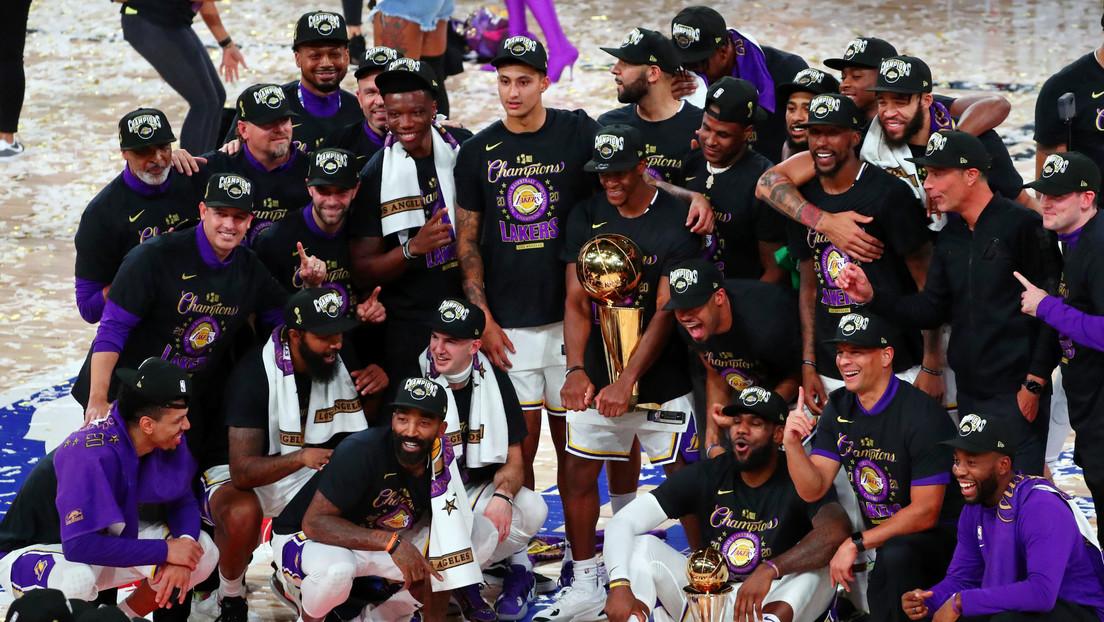 Los Lakers de Los Ángeles se consagran campeones de la NBA tras imponerse al Heat de Miami 4 juegos a 2 en la serie final