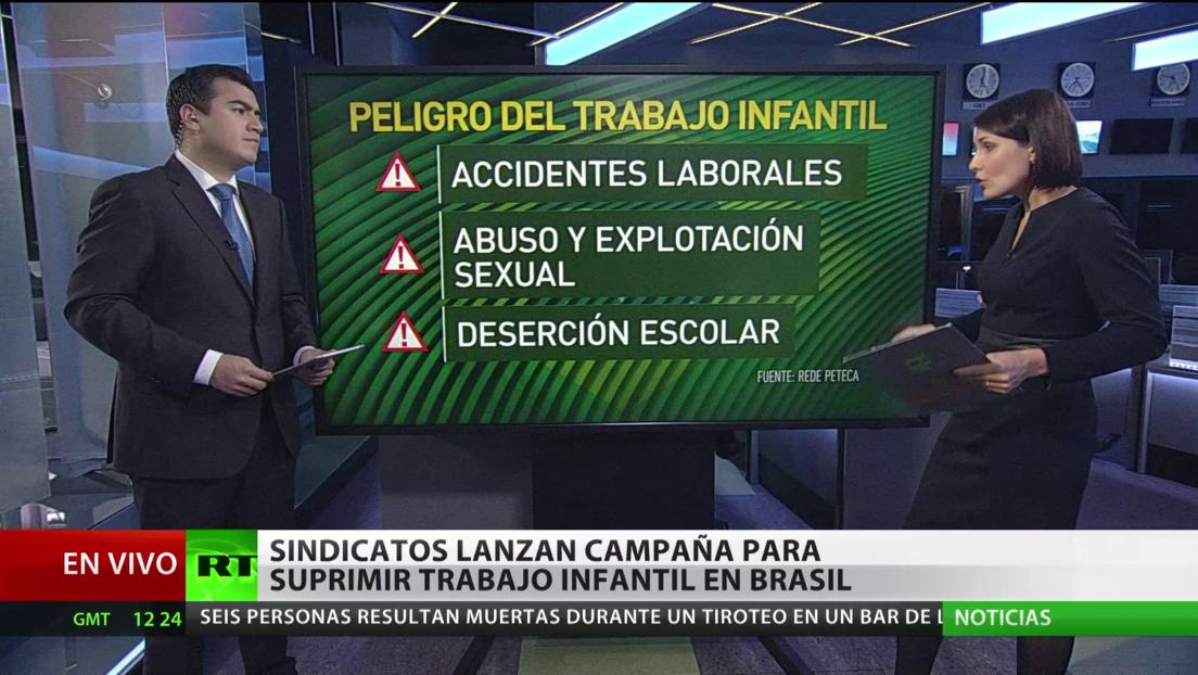 Sindicatos brasileños lanzan una campaña para suprimir el trabajo infantil