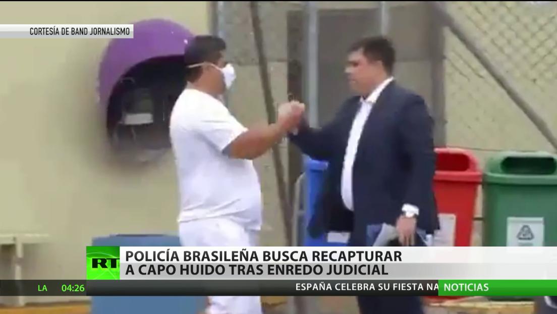 La Policía de Brasil busca recapturar a capo huido tras enredo judicial