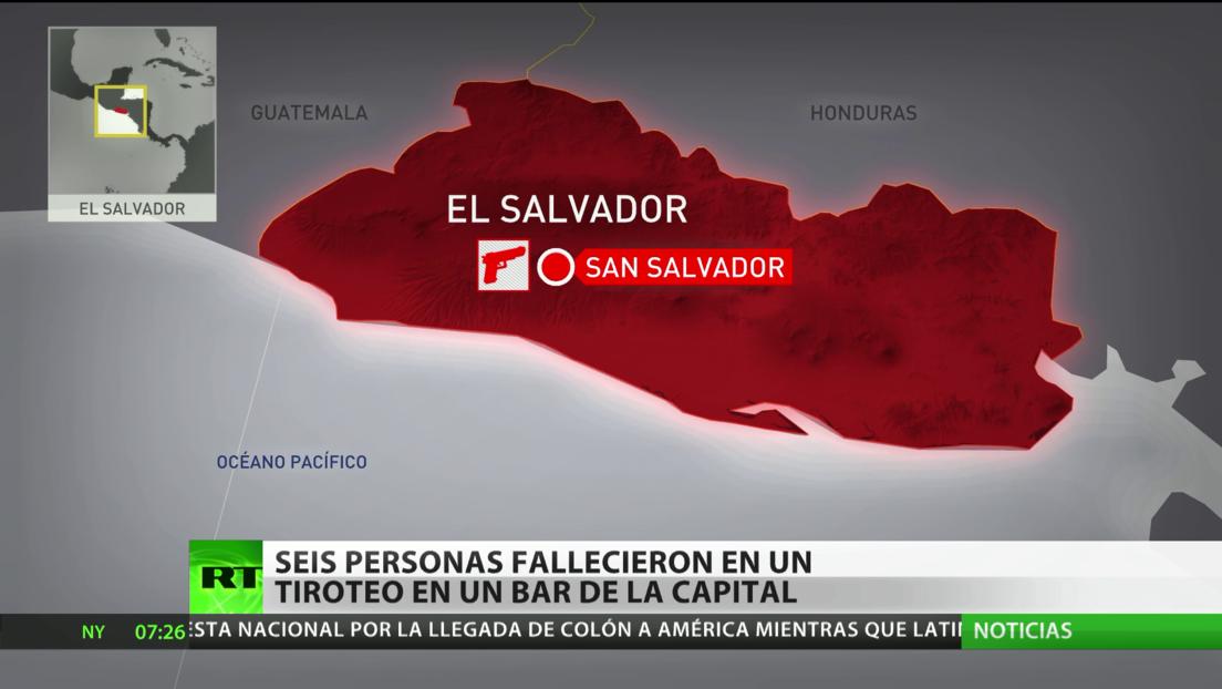 Seis personas mueren en un tiroteo en un bar de la capital de El Salvador