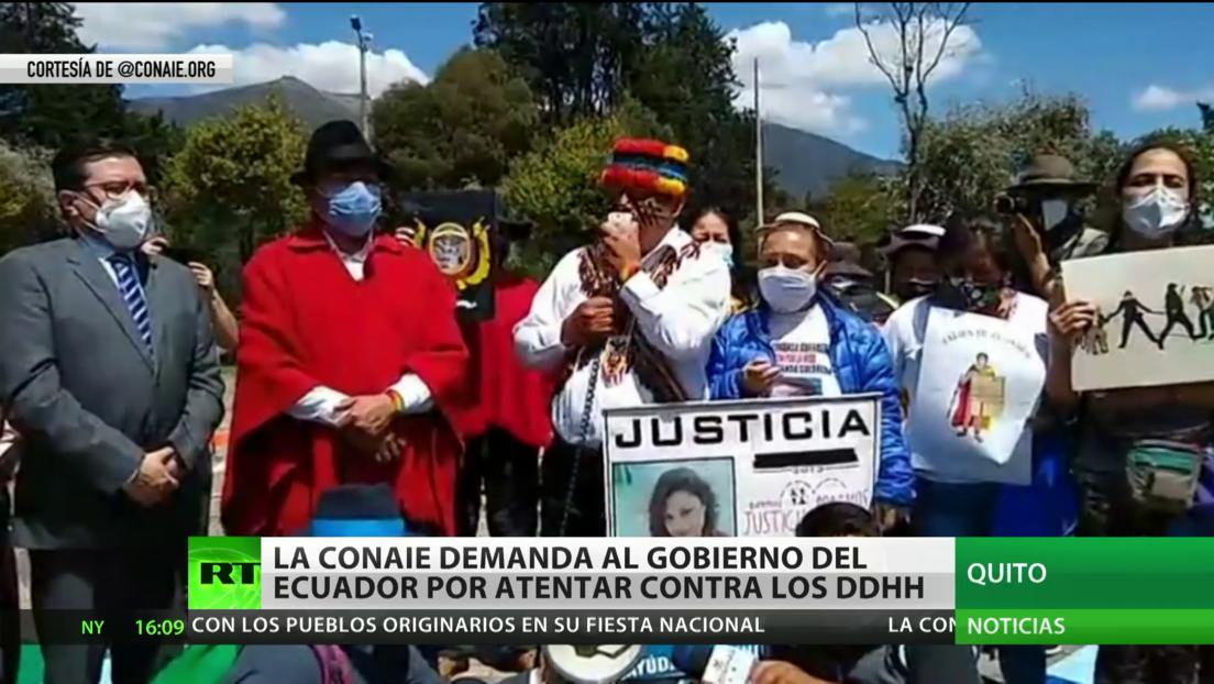 La Conaie demanda al Gobierno de Ecuador por atentar contra los derechos humanos
