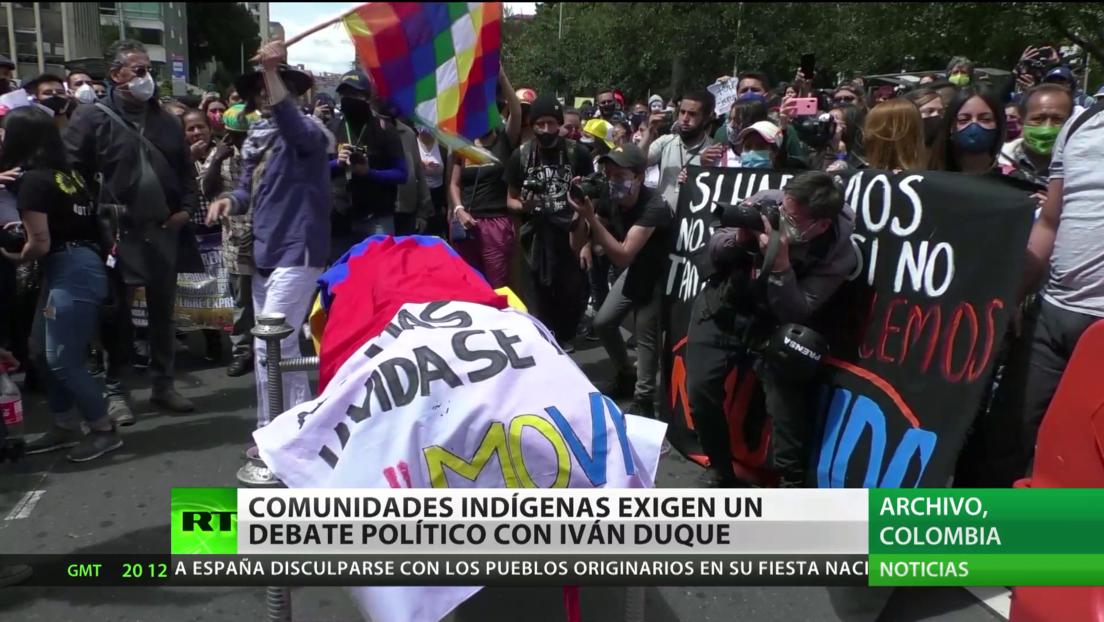 Colombia: Comunidades indígenas exigen un debate político con Iván Duque