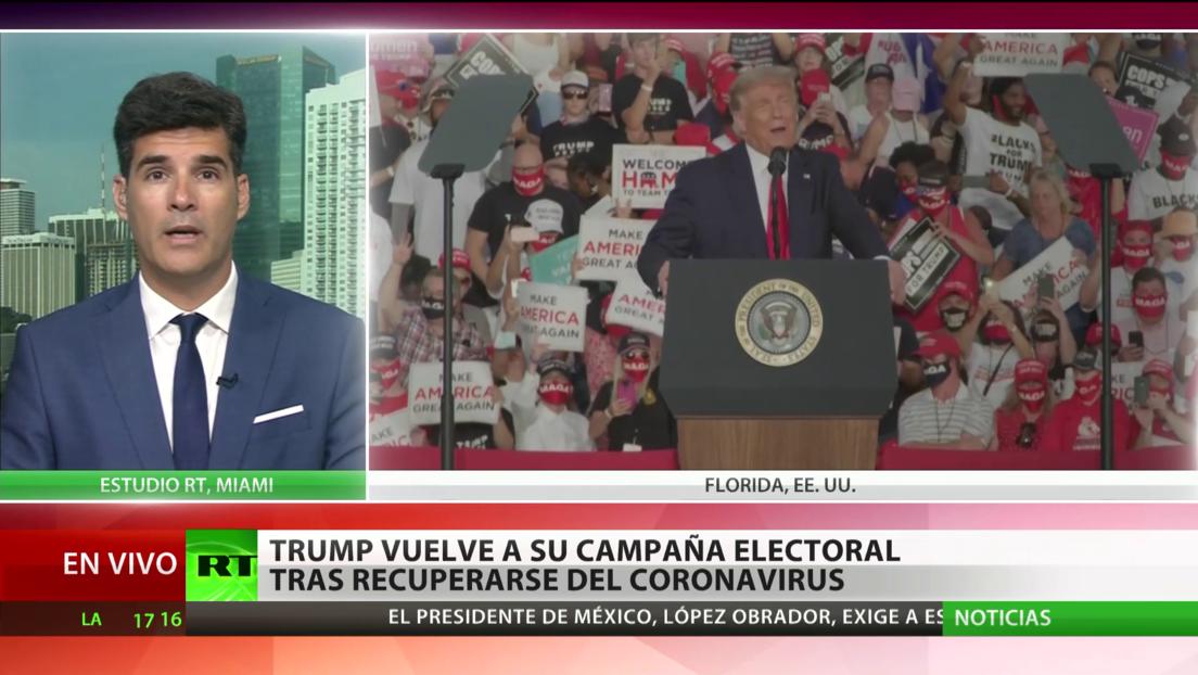 Trump vuelve a su campaña electoral tras recuperarse del coronavirus