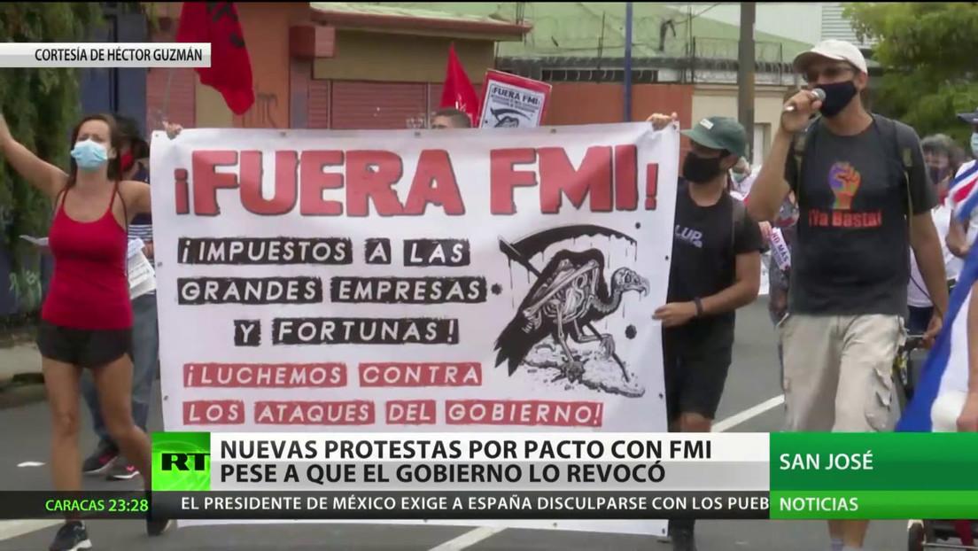 Nuevas protestas en Costa Rica en contra del pacto con el FMI