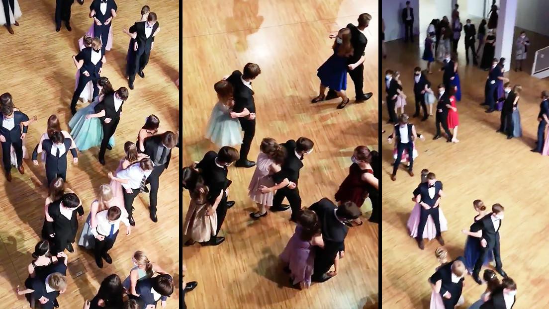 VIDEO: Estudiantes bailan espalda contra espalda en plena pandemia del covid-19 y causan indignación en la Red