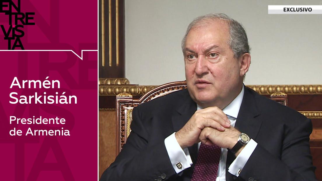 """""""No olvidemos quién inició esta etapa de la guerra"""": el presidente armenio habla con RT del conflicto en Nagorno Karabaj"""