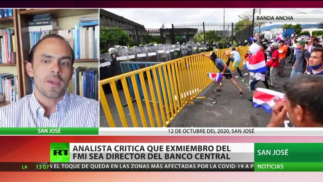 """Analista: En Costa Rica """"hay un conflicto de intereses"""" porque el director del Banco Central """"es un exfuncionario del FMI"""""""