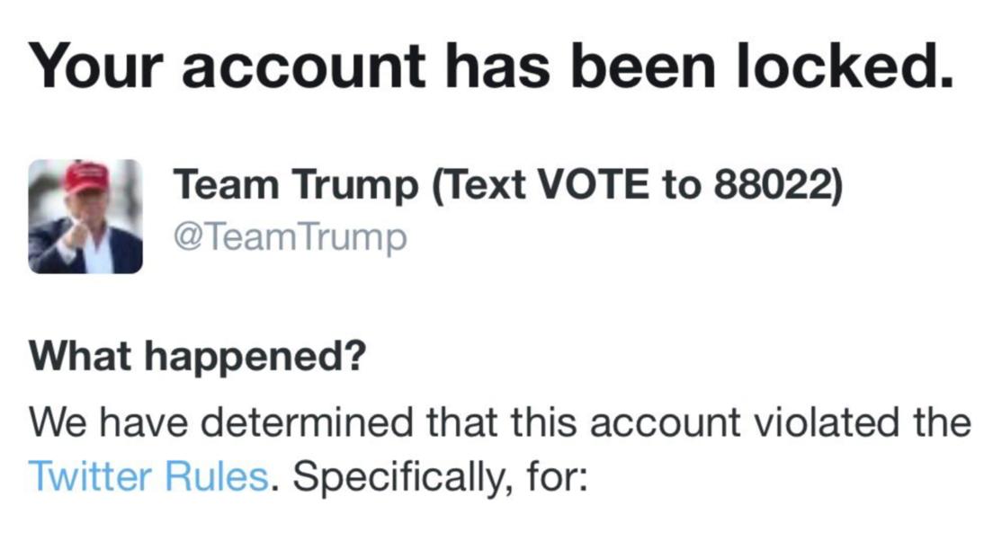 Twitter restringe temporalmente la cuenta de la campaña electoral de Trump por un video sobre el hijo de Joe Biden