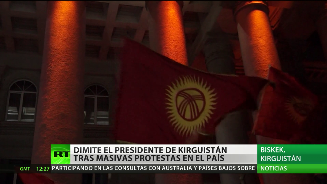 Dimite el presidente de Kirguistán tras masivas protestas en el país