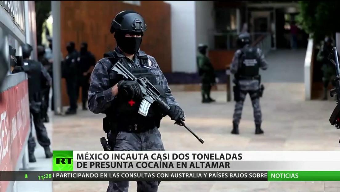 México incauta casi dos toneladas de presunta cocaína en altamar