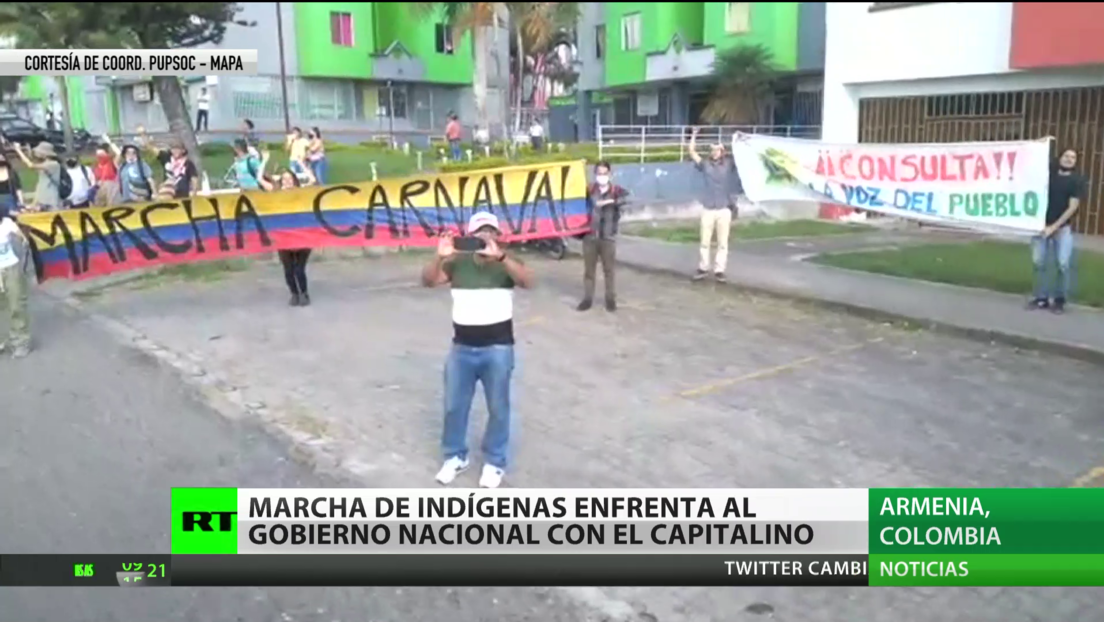 Colombia: Marcha de indígenas enfrenta al Gobierno de Duque con el de la capital