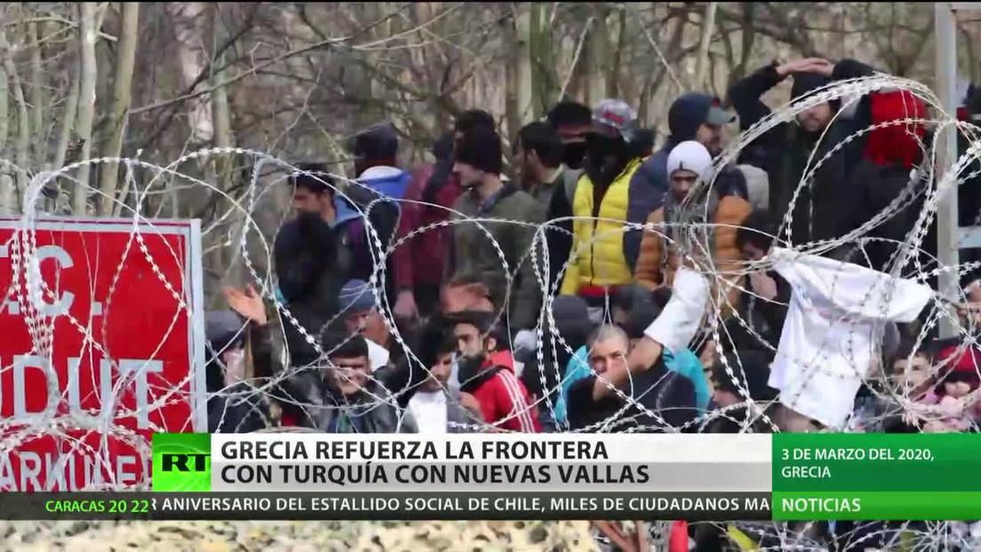 Grecia coloca nuevas vallas para reforzar la frontera con Turquía