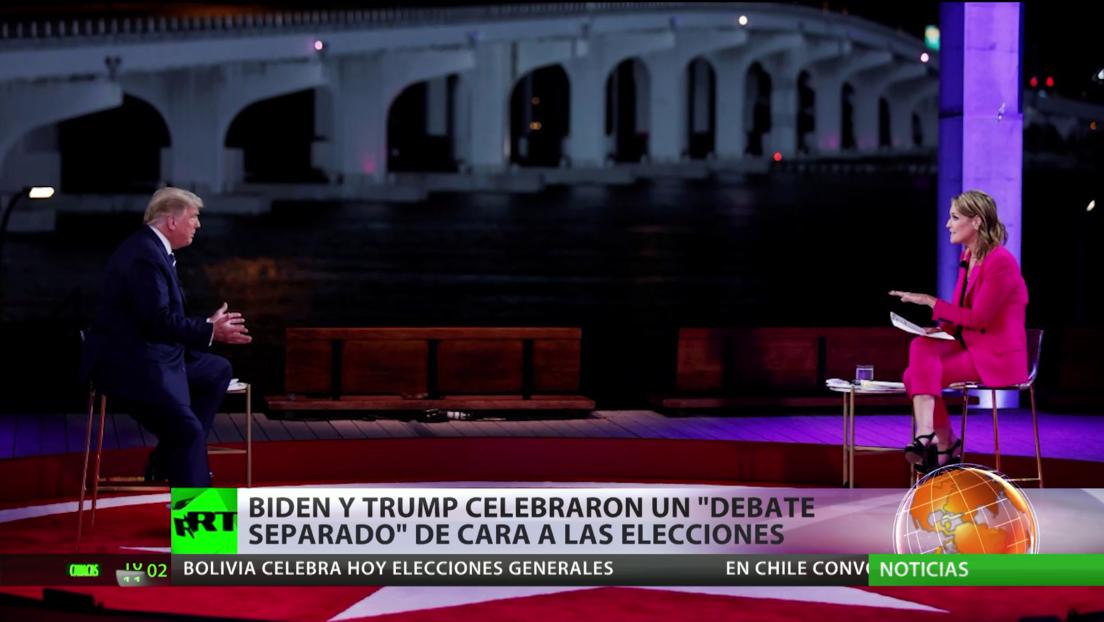 Biden y Trump celebran debates separados a pocos días las elecciones presidenciales en EE.UU.