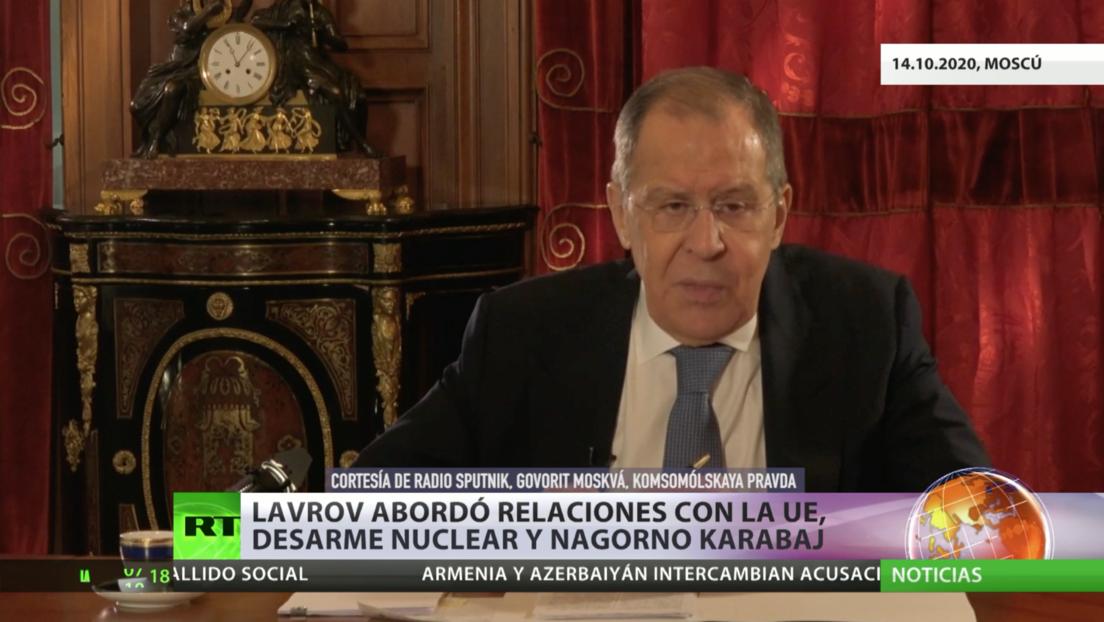 Lavrov habló de las relaciones con la UE, del desarme nuclear y del conflicto en Nagorno Karabaj