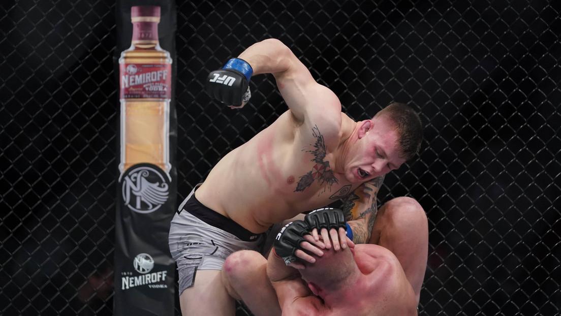 VIDEOS: La inesperada reacción de un luchador de la UFC tras noquear a su rival