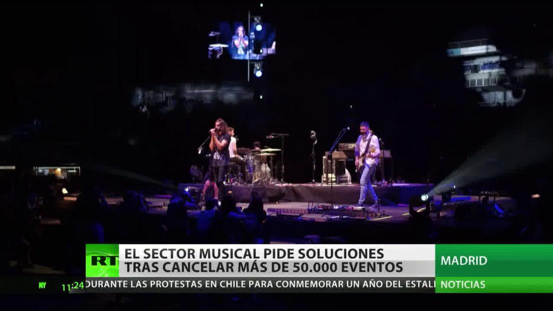 España: El sector musical pide soluciones tras la suspensión de más de 50.000 eventos por la pandemia