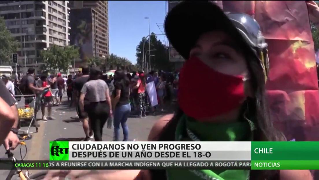 Ciudadanos chilenos no ven el progreso tras cumplirse un año desde el inicio del estallido social