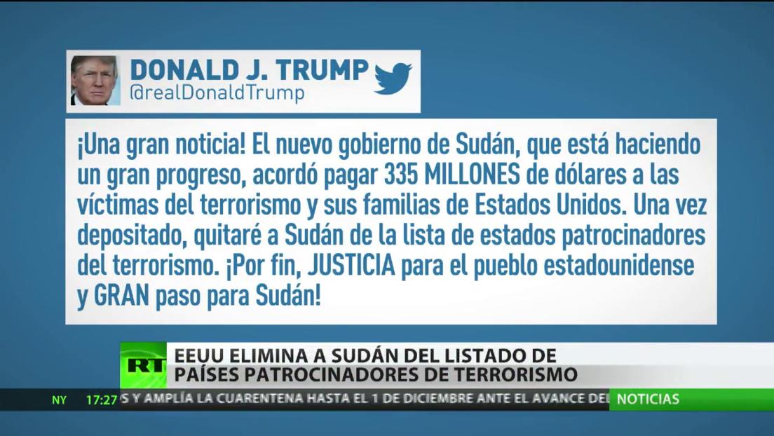 EE.UU. eliminará a Sudán del listado de países patrocinadores del terrorismo