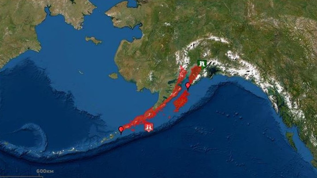 Emiten amenaza de tsunami en Alaska tras un terremoto de 7,5 en el Pacífico