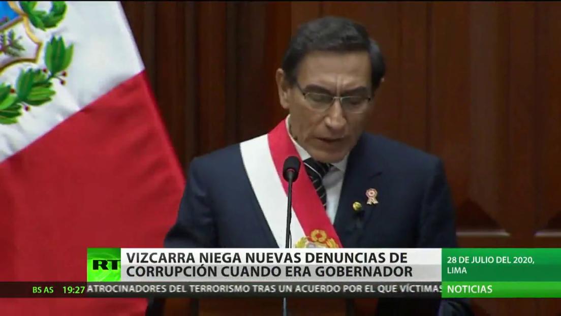 El presidente de Perú, Martín Vizcarra, niega nuevas denuncias de corrupción de cuando era gobernador