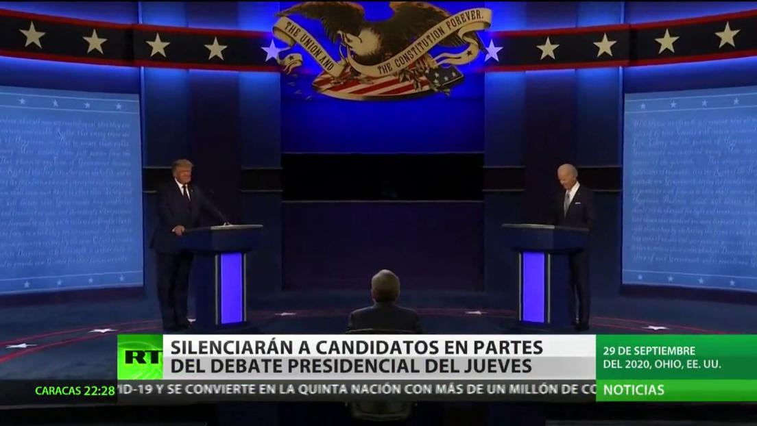 Silenciarán por momentos a Trump y Biden durante el próximo debate presidencial en EE.UU.