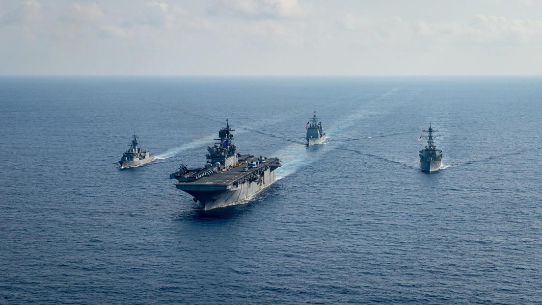 EE.UU., Japón y Australia realizan ejercicios navales conjuntos en el mar de China Meridional