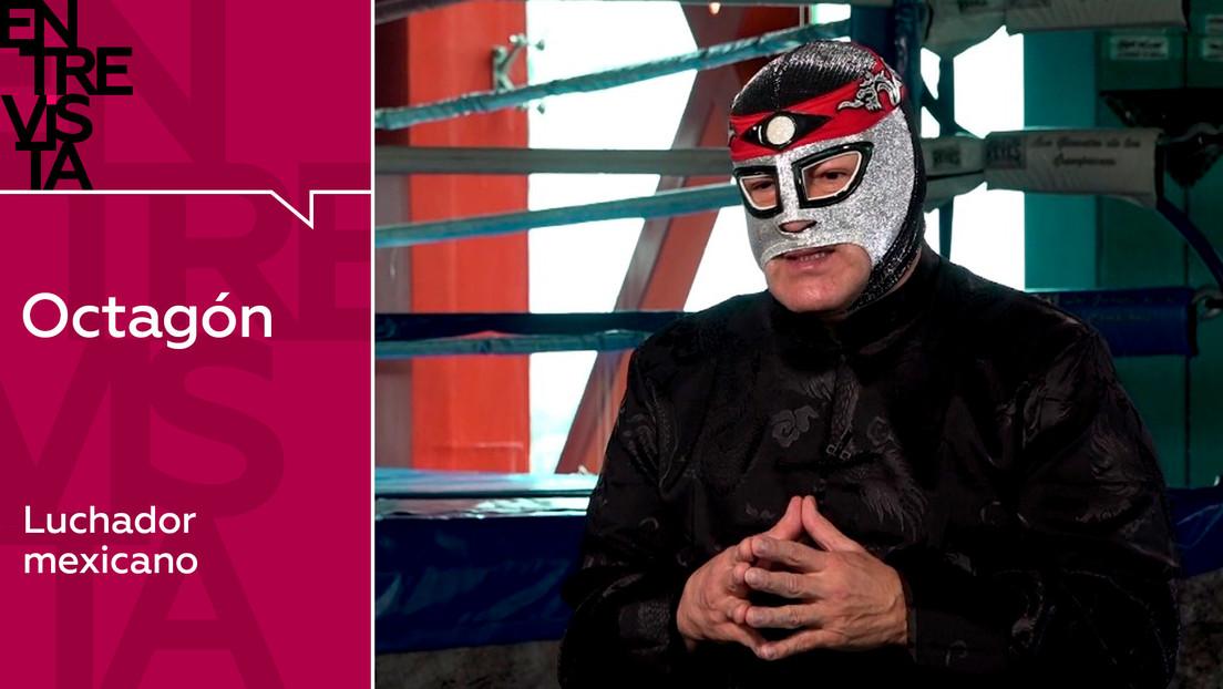 """Octagón, luchador mexicano: """"Voy a cumplir 60 años y me sigo subiendo al ring"""""""