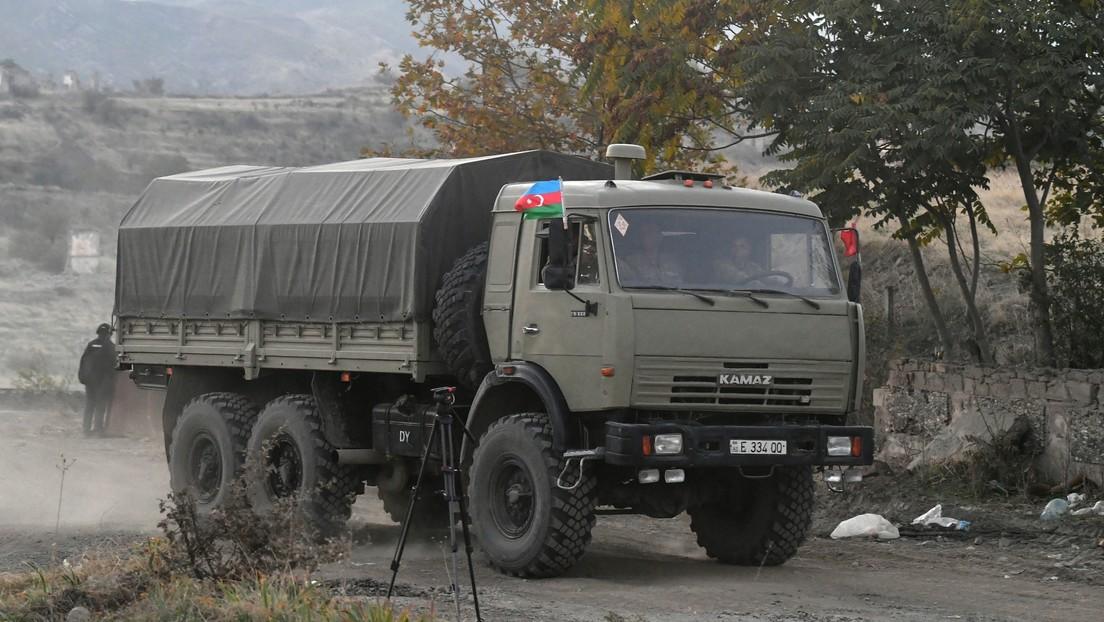 El presidente de Azerbaiyán anuncia que sus fuerzas armadas tomaron el control de varias localidades de Nagorno Karabaj