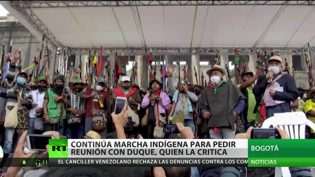 Colombia: Continúa la marcha indígena para pedir diálogo con Duque, quien le dedica críticas