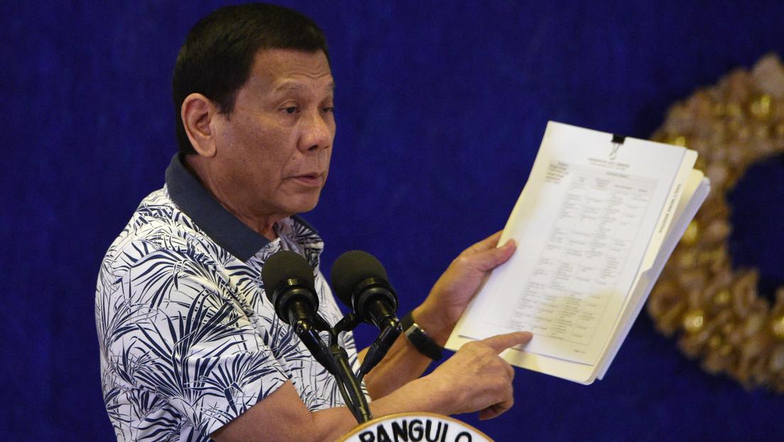 """Duterte: """"Pueden hacerme responsable de los asesinatos en la guerra contra las drogas"""""""
