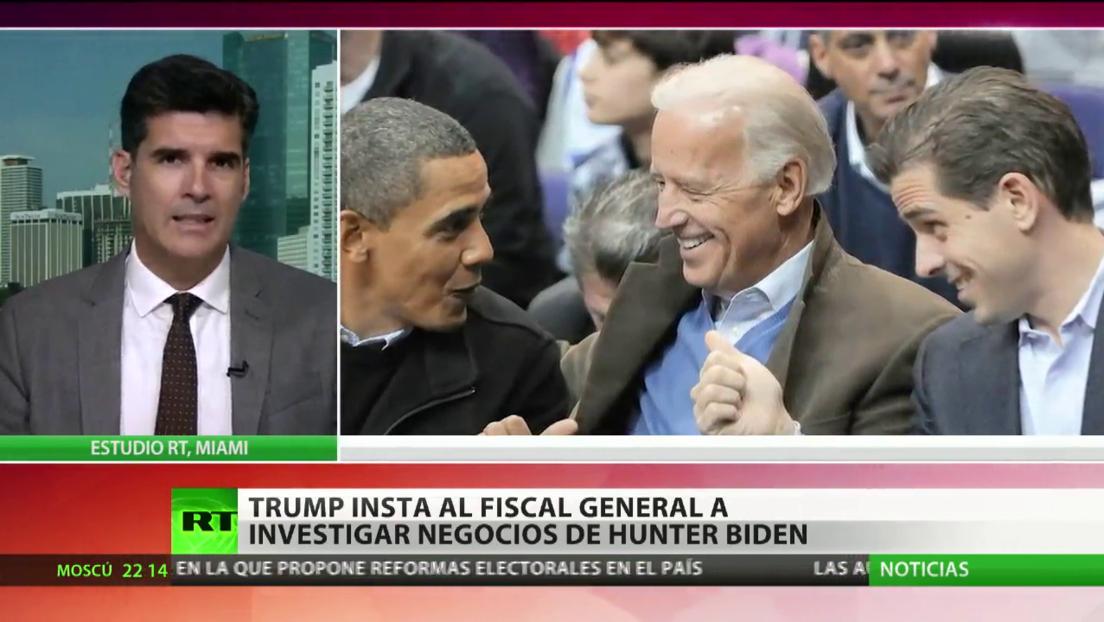Donald Trump insta al fiscal general a investigar los negocios de Hunter Biden