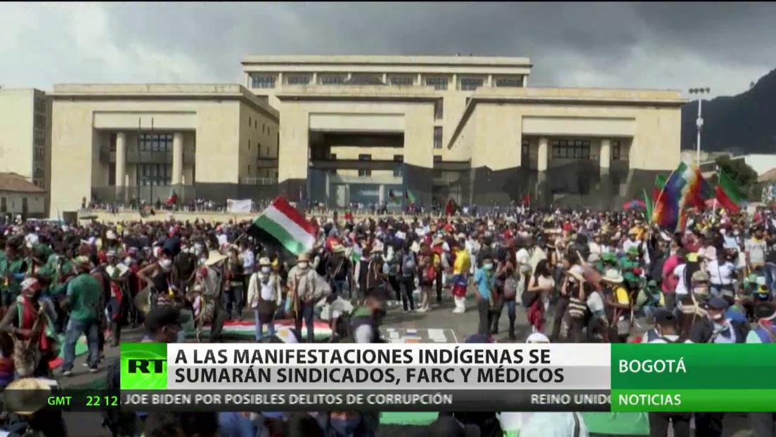 FARC y sindicatos se suman a las manifestaciones contra la nueva oleada de violencia en Colombia