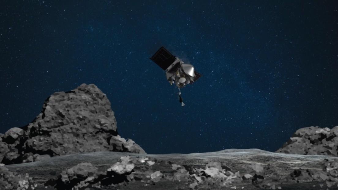 La sonda espacial OSIRIS-REx toma muestras de la superficie del asteroide Bennu por primera vez