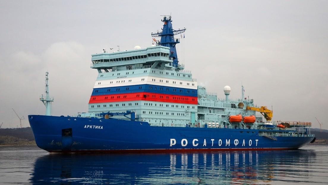 El rompehielos nuclear más potente del mundo se une a la flota ártica de Rusia