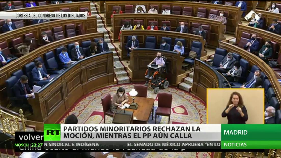 Partidos minoritarios rechazan la moción de censura contra Sánchez y su Gobierno, mientras el Partido Popular aún calla