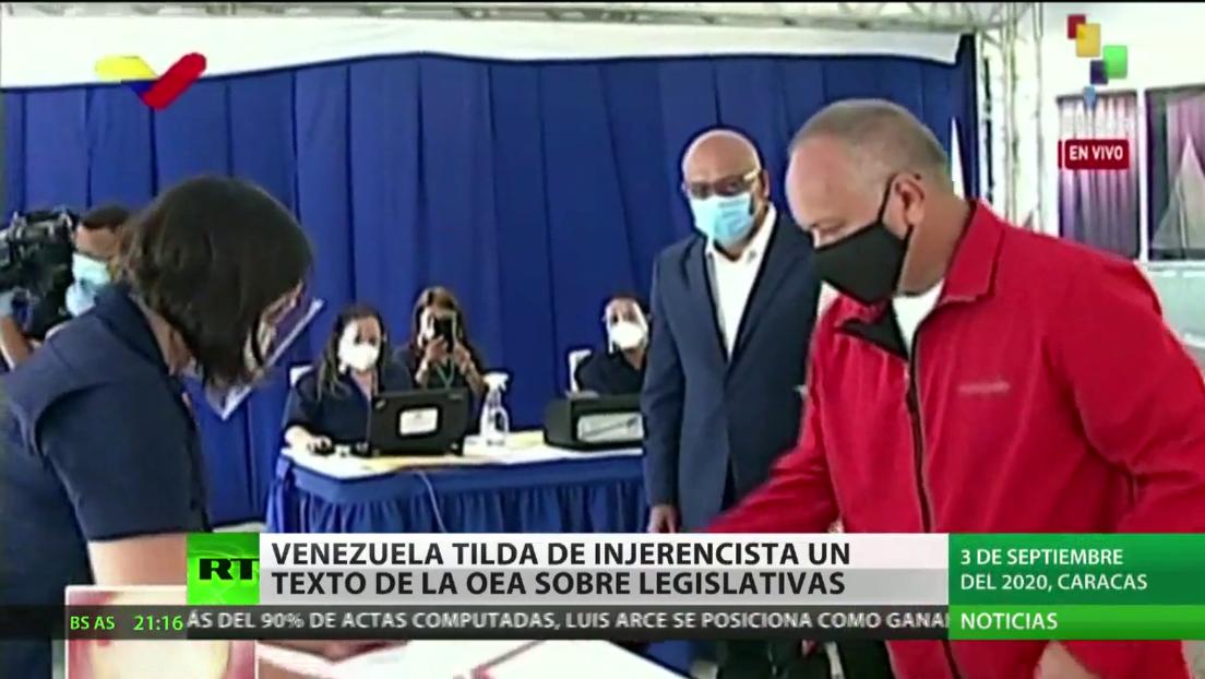 """Venezuela rechaza como """"injerencista"""" una resolución de la OEA sobre sus comicios legislativos"""