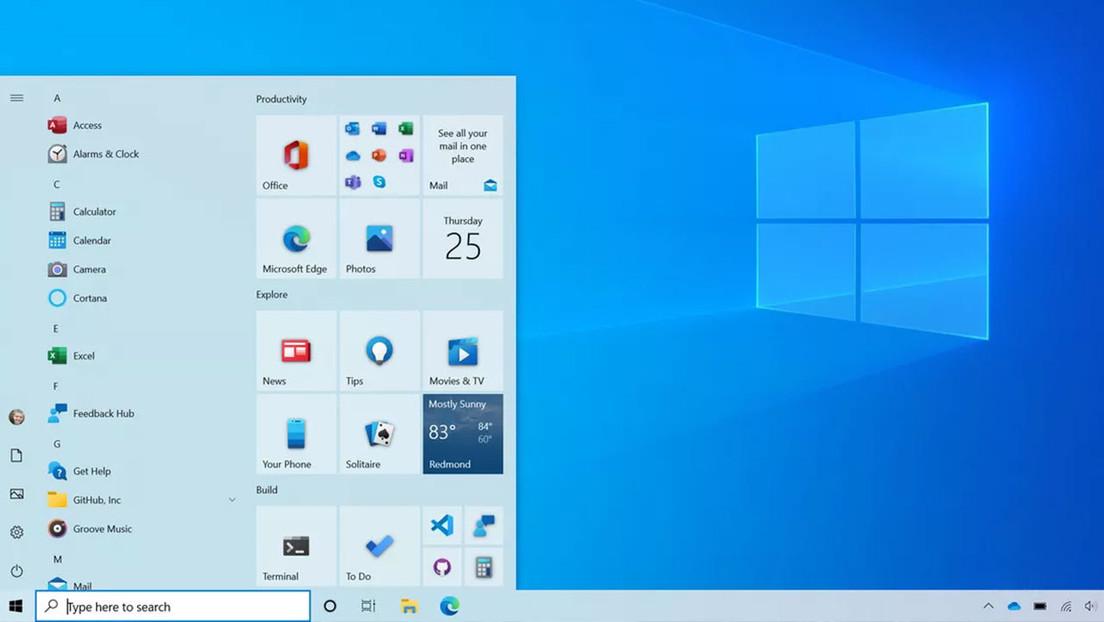 Microsoft lanza una actualización que transforma el menú de inicio de Windows 10