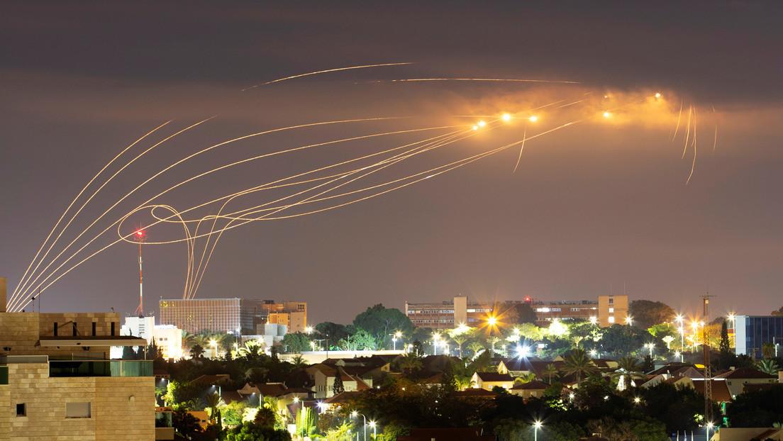 VIDEO: El sistema de defensa antiaérea de Israel intercepta uno de los dos misiles lanzados desde la Franja de Gaza