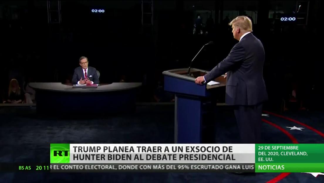 Trump planea llevar a un exsocio de Hunter Biden al último debate presidencial